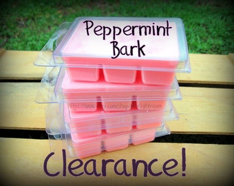One Pack of Peppermint Bark Soy Melts Clearance On Sale