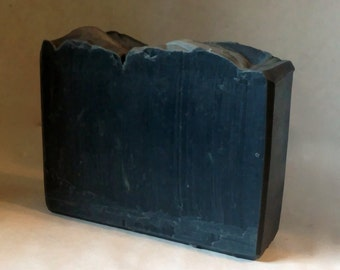 Detox Clay Facial Charcoal Soap for Acne - Cold Process, Artisan Pure Silk Soap with Tee Tree Oil