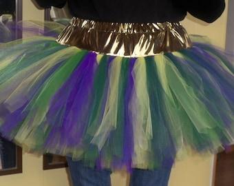 Adult Mardi Gras Fluffy Girl Plus Size TuTu