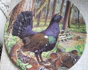 Capercaillie Royal Grafton plate 1987 in original box and packing with cetificate of authenticity