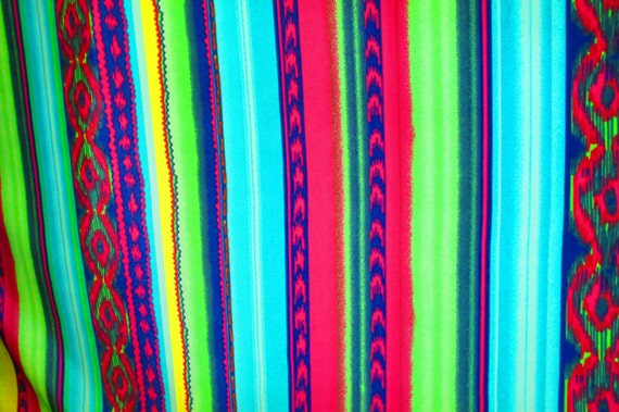 Items similar to mexican fabric aztec on sale fabric for Patterned material for sale