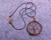 Copper Wire Tree Necklace