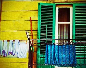 wooden shutters - vibrant color - fine art photography - photo art - large wall print - european photography - home decor - wall art -