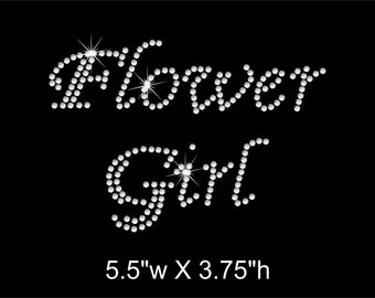 Flower Girl Rhinestone Transfer