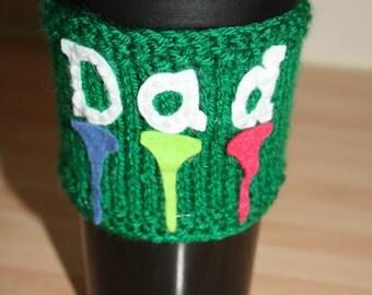Cup cuff, cosy. Mug hug. Golf cup cuff. Golf mad cup cuff.