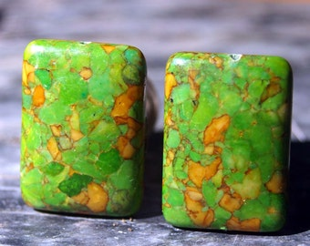 Knobs, Stone Knobs, Cabinet Knobs, Small Green Stone Knobs - Green stone knobs, stone knobs, kitchen, bathroom