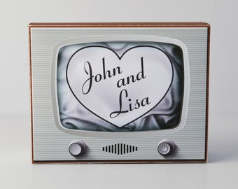 "Printable Vintage/ Retro Television ""I Love Lucy""-inspired Gift/ Favor Box from Paper Built"