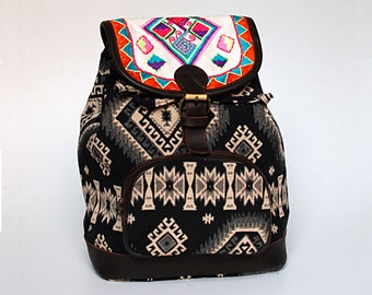 Jacquard Embroidered Backpack