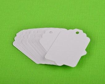 Tags (Qty 25) Small - White - Plain - 1 7/8 x 1 1/4