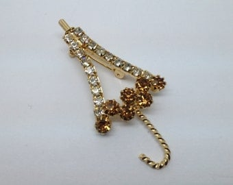 Put Aside For A Rainy Day... Vintage Umbrella Brooch