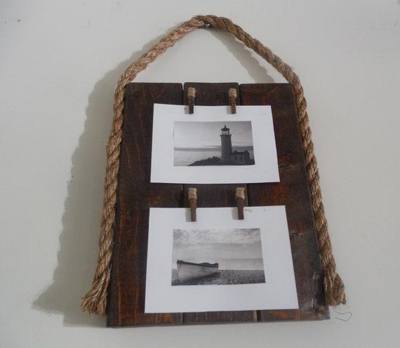 Nautical Rope Decor Items: Beach Home Decor / Nautical Rope / Frame / By