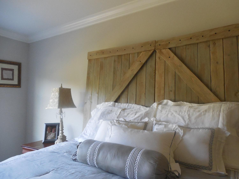 barn door queen headboard rustic barn gate