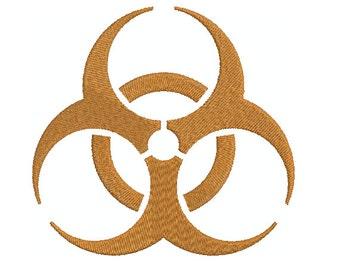 Machine Embroidery Design Instant Download - Bio Hazard Symbol