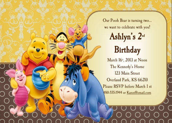 Classic Winnie The Pooh Invitations is beautiful invitations example