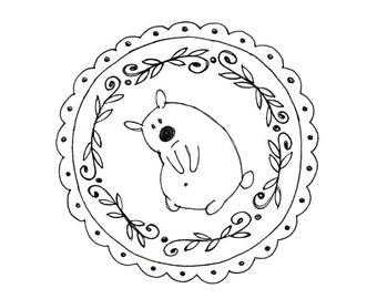 Hand Embroidery Bear Digital Downloadable Pattern Teddy Bear pdf 0009