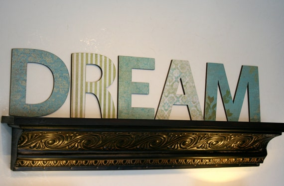Home Decor Wall Letters : Dream letters home decor wall by finchnwillowboutique