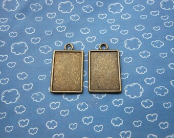 20 pcs antiqued bronze frame charms.photo frame charm,base charm.18mmx25mm