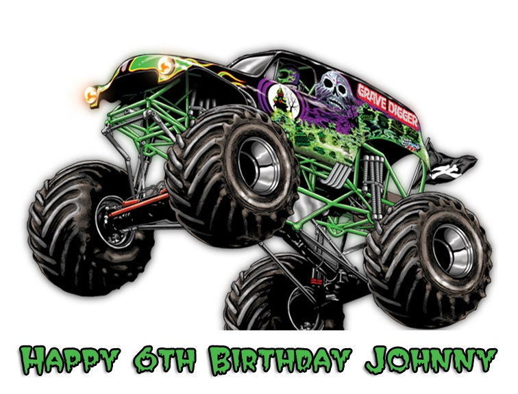 Grave Digger Monster Truck Drawings Images amp Pictures Becuo