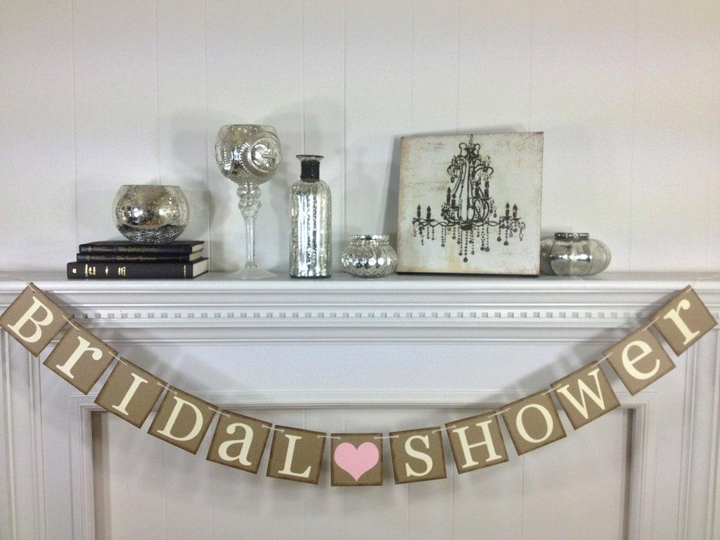 Bridal Shower Banner Bridal Shower Decorations by ABannerAffair