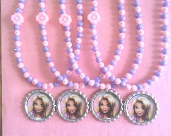 Princess Rapunzel Party Favor Necklaces Set of 4