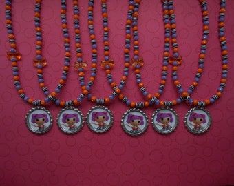 Lalaloopsy Peanut Big Top Party Favor Stretch Necklaces Set of 6