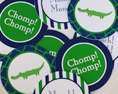 Preppy Alligator Party Printable Cupcake Toppers - Little Alligator Themed Birthday - Three Different Designs - INSTANT DOWNLOAD