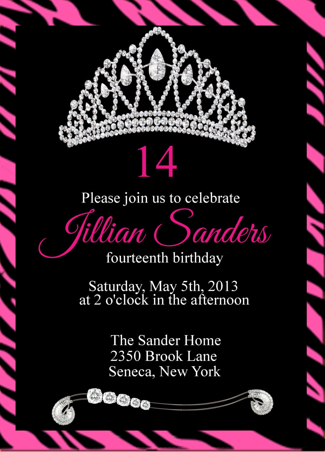 Printable Princess Crown Birthday Party by GooseCornerGreetings