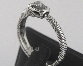 Ouroboros, sterling silver ring