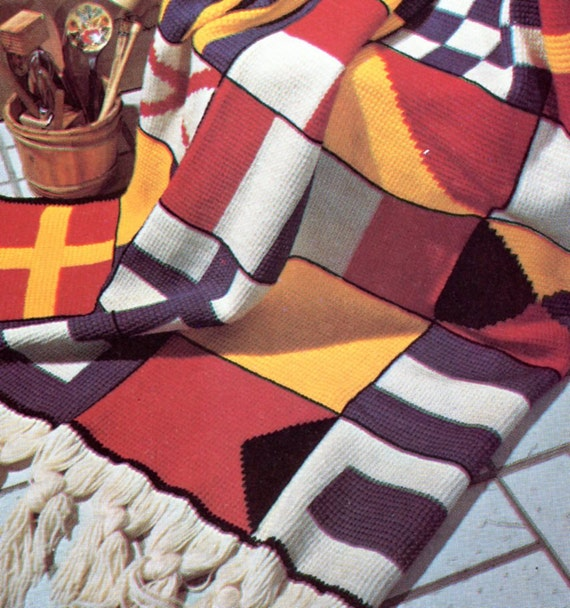 Anchor Knitting Pattern Blanket : Nautical Crochet Blanket Patern Maritime Flags by ...