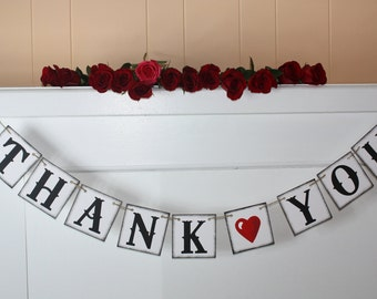 THANK YOU Banner -  Banners Wedding Decoration Wedding Banner Photo Prop - Wedding Sign - Banners