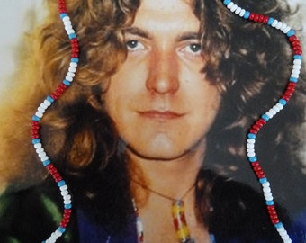 Robert Plant / Led Zeppelin Love Bead Necklace Authentic Replica