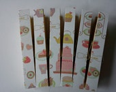 Cupcakes and tea cups magnets clothespins pegs
