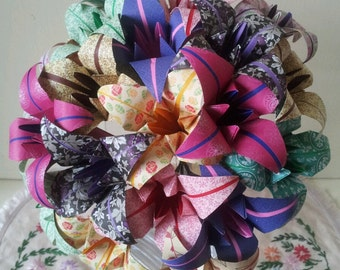 Paper Flowers Lily Origami Bouquet  Wedding Paper Anniversary Valentines