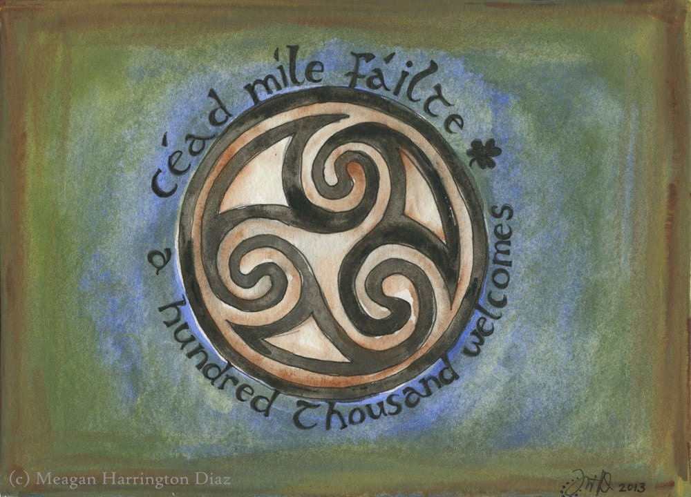 Celtic Knot Cead Mile Failte A Hundred Thousand Welcomes