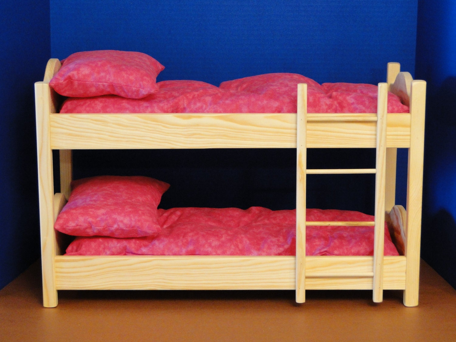bunk bed with mattresses pillows for 18 inch dolls 097. Black Bedroom Furniture Sets. Home Design Ideas