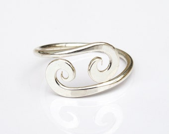 Dainty Knuckle Ring - Silver Mid Finger Ring Worn Above the Knuckle