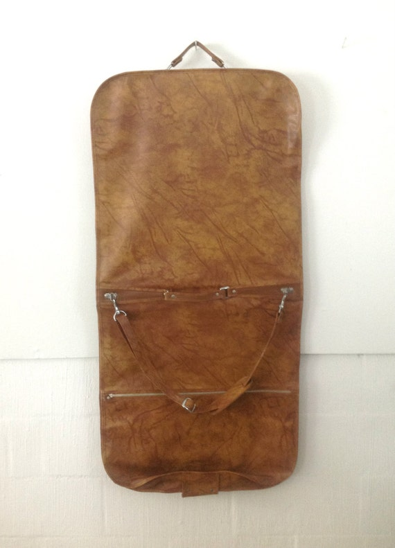 Vintage American Tourister Garment Bag With Keys Marbeled