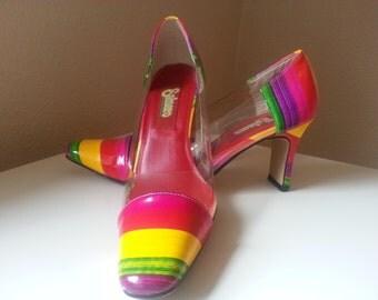 Salsero Rainbow Vintage Shoes, Size 8M