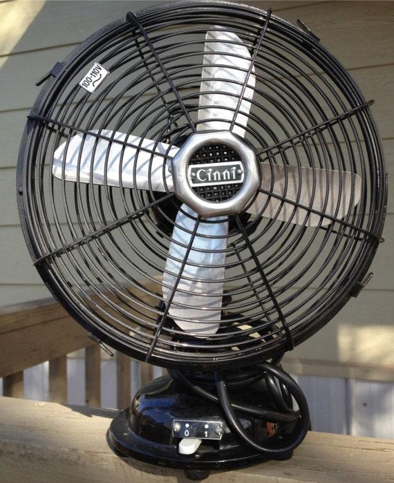 Retro Electric Fans : Vintage retro style cinni electric desk fan