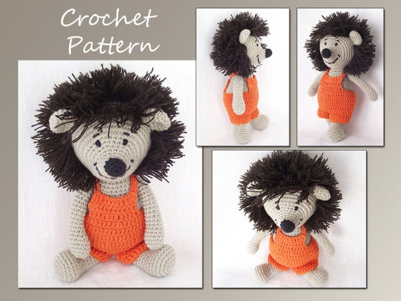 Crochet Pattern, Amigurumi, Hedgehog Crochet Pattern,  Animal Crochet Pattern, Pdf Pattern