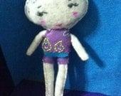 Reserved for Aida OOAK Cloud Felt Doll