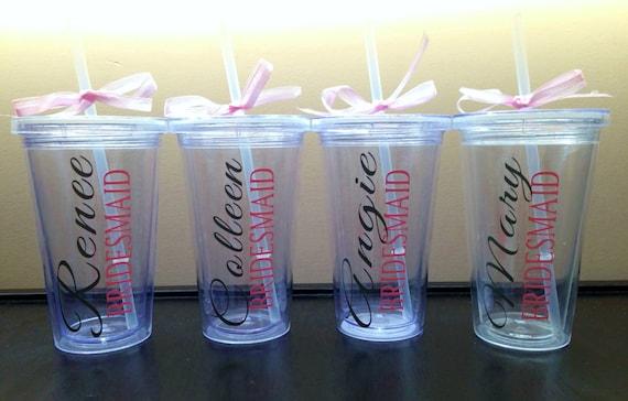 Vaso personalizado para damas de honor - Vasos personalizados ...