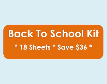 Back to School Printables - School Planner - Primary - Seconday - Home Organisation - Household Binder - 18 sheets - Value Pack