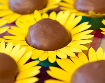 Sunflower cupcake wrapper - Set of 12