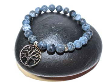 Yoga Bracelet - TREE OF LIFE Charm, tree of life bracelet - meditation bracelet, Mala Beads Bracelet, Boho Spiritual Jewelry, Zen Jewelry
