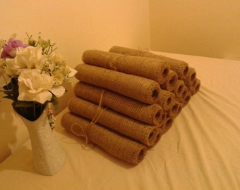 """Free Shipping ,Burlap Table Runners set of 10 12""""/84"""" ,Made to Order,Rustic Wedding"""