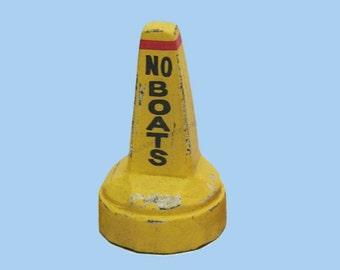 """Wooden 4"""" Yellow Marine Buoy Floaters Available / Boat Buoys / Marker Buoy"""
