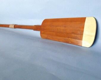 "62"" Squared Wooden Rowing Oar w/Pale Tip - Paddle Oars Boat / Wood Paddles / Wood Wall Art"