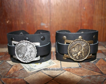 Griffin leather Wristband for LARP, action roleplaying and cosplay