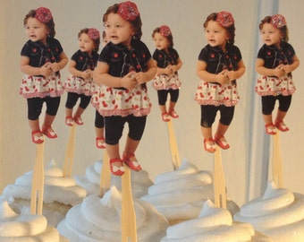 Photo cupcake toppers full body. set of 12